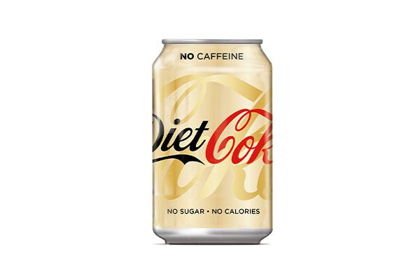 caffeine free diet coke label